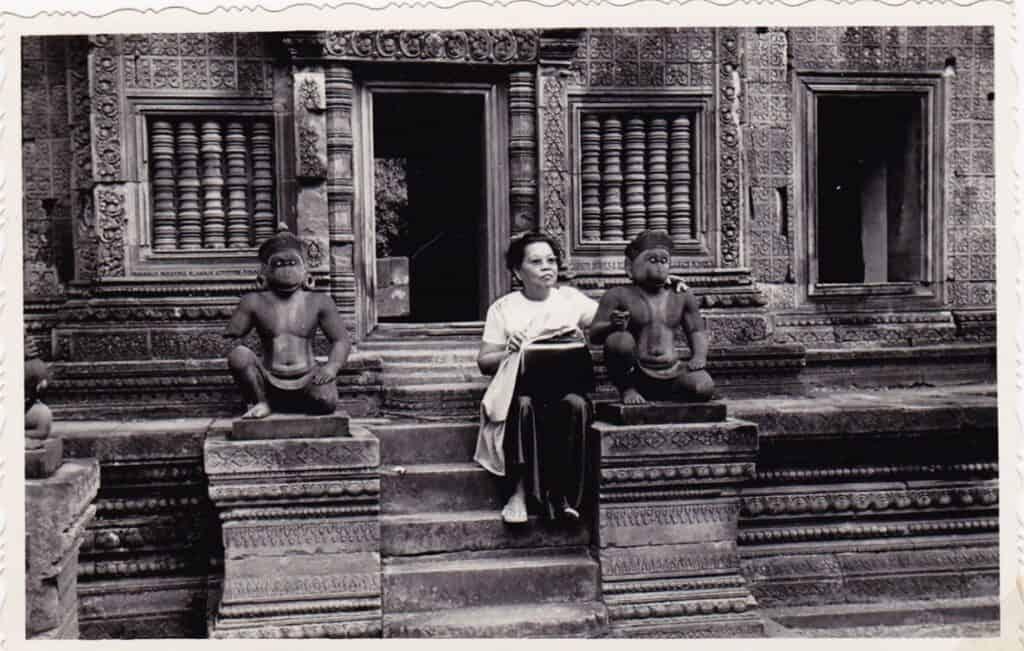 Banteay Srey Temple in 1960s