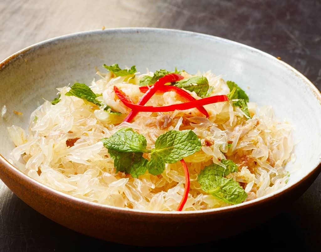 Pomelo Salad with Shrimp & Fresh Herbs