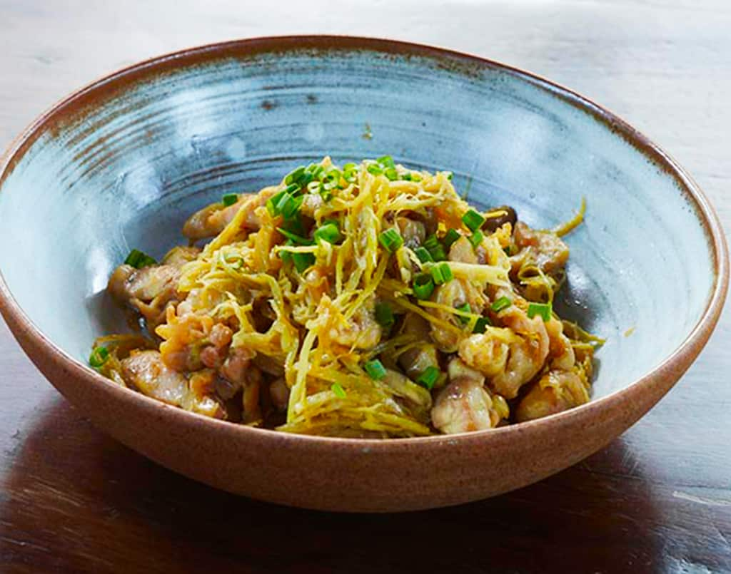 Chicken Sauté with Ginger