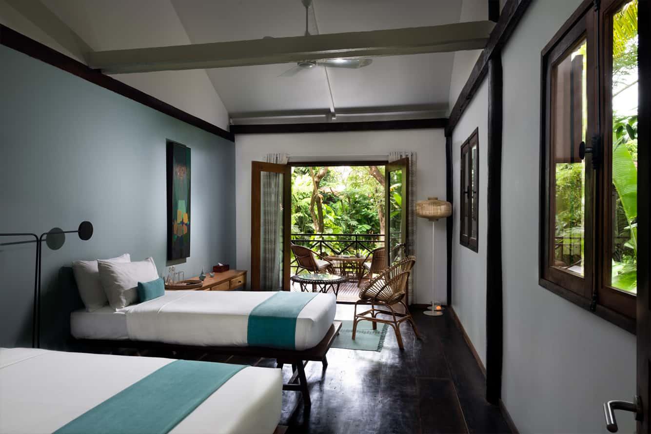Twin Bed in Garden Cottage Maison Polanka