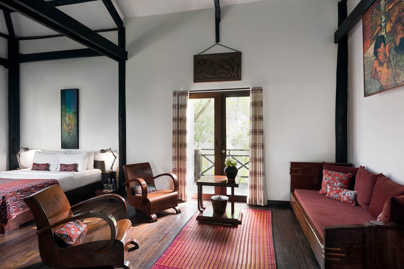 Khmer House Living Room at Maison Polanka