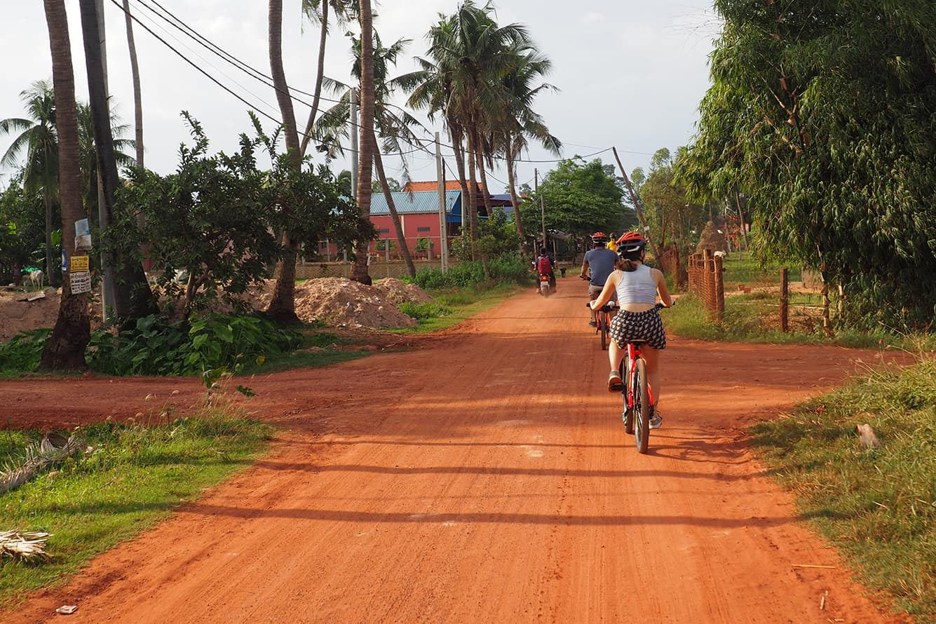Dirt Road in Siem Reap Countryside