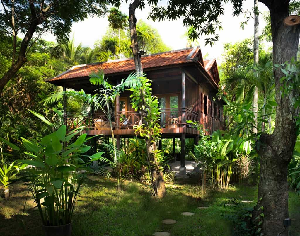 Khmer Wooden House and the Garden