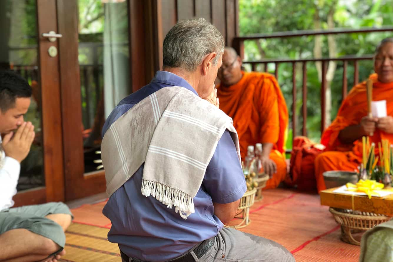 Monk Blessing at Maison Polanka Siem Reap