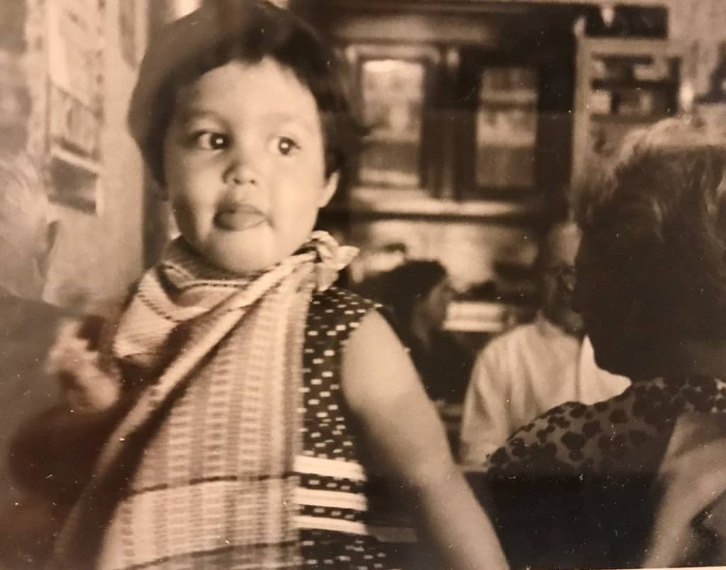 Old Photo of a Cambodian Girl