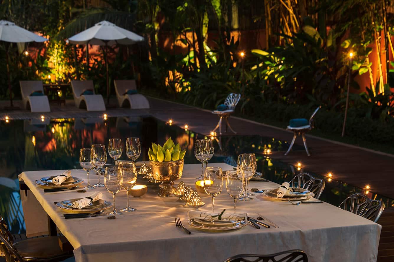 Pool Side Dinner in Siem Reap