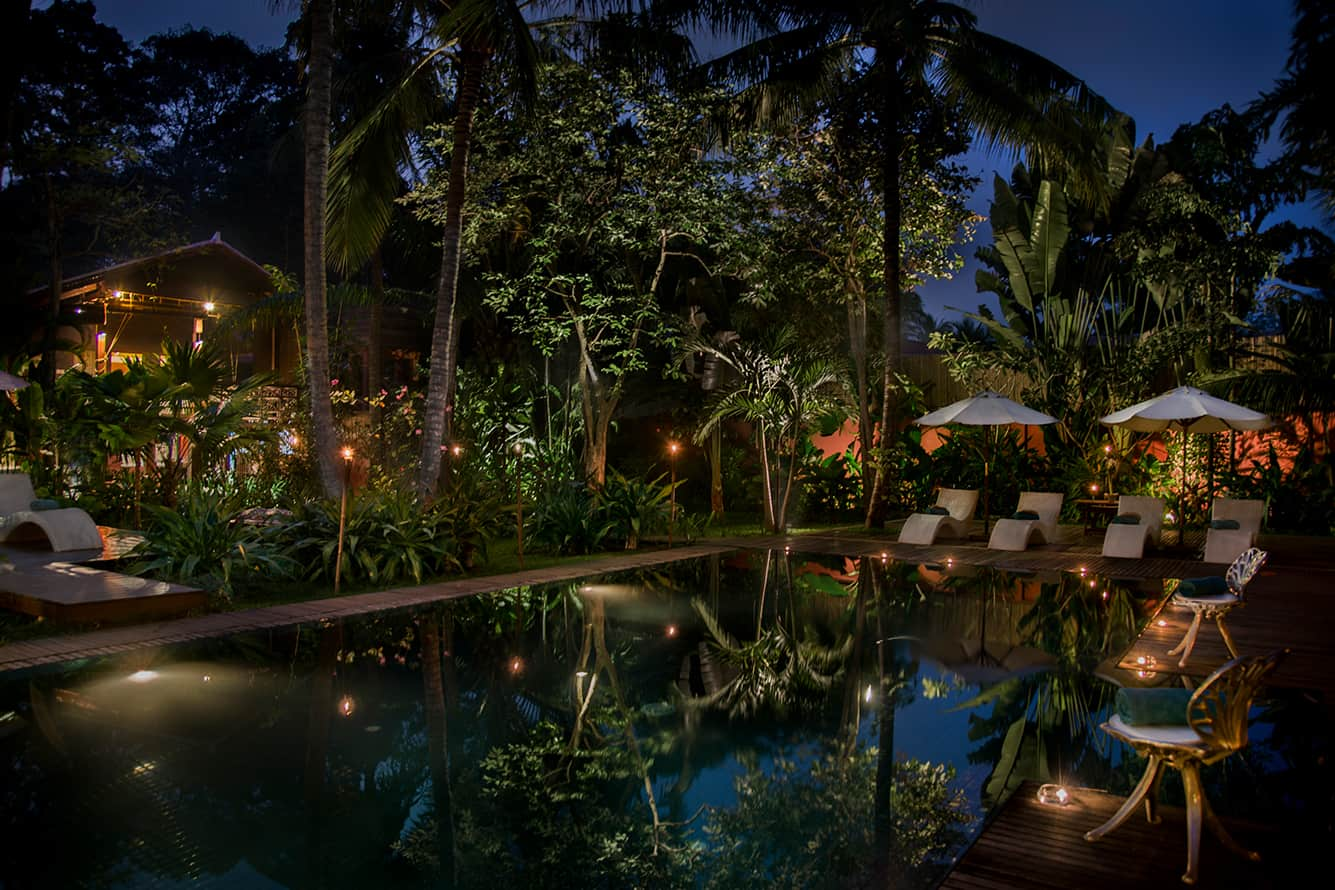 Swimming Pool at Night Maison Polanka