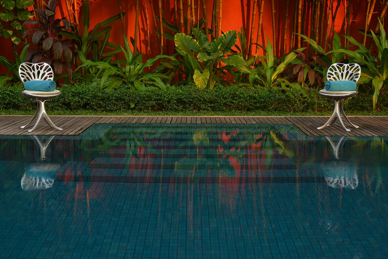 Swimming Pool in the Tropical Garden Siem Reap