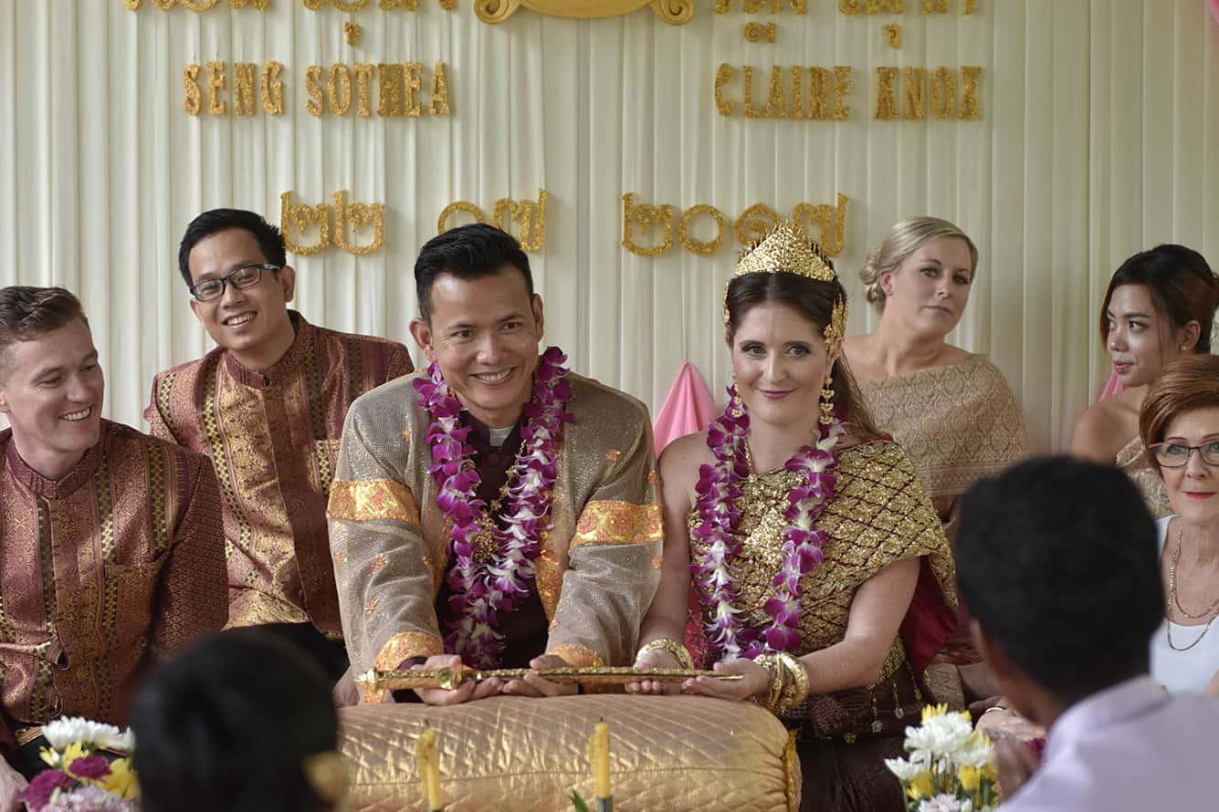 Sothea & Claire Wedding Ceremony in Maison Polanka