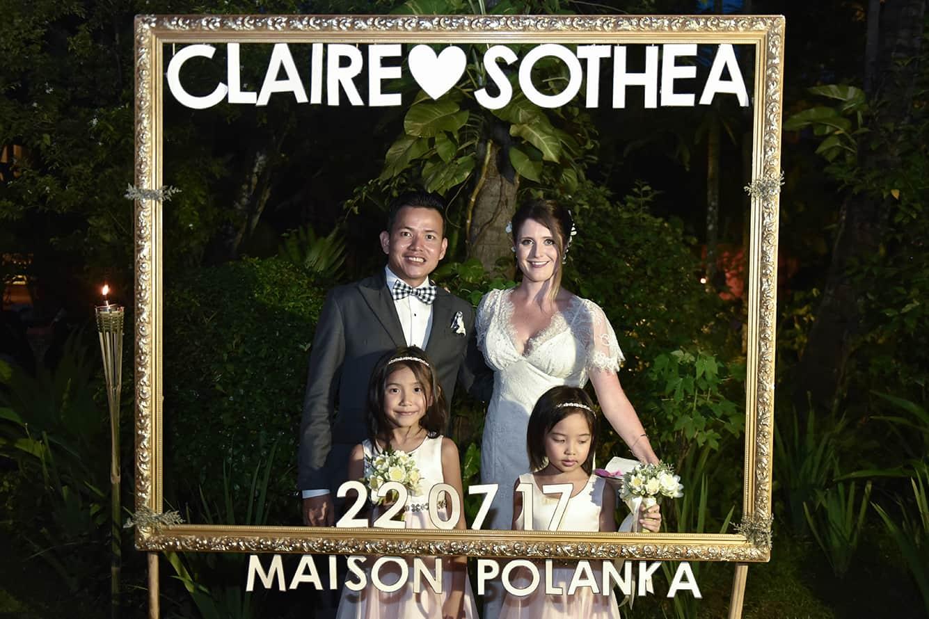Sothea & Claire Wedding Photos at Maison Polanka