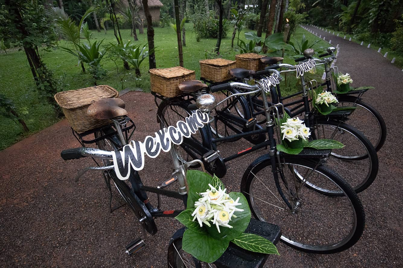 Welcome Bicycles for Wedding Ceremony in Siem Reap