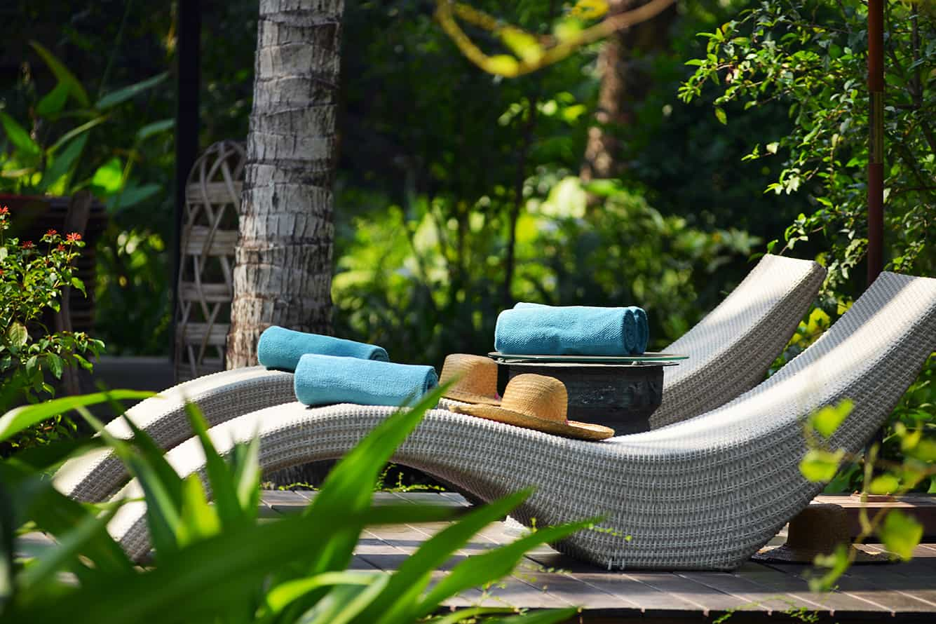 Khmer-Styled Sunbath Lounges at Maison Polanka