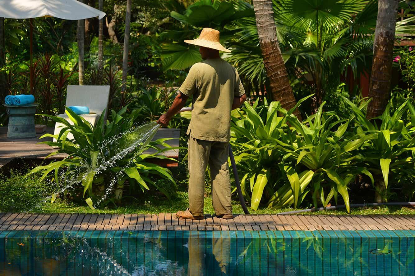 Maison Polanka Gardener at the Pool